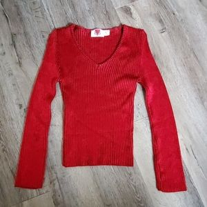 Venus Ribbed Vneck Sweater